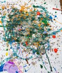 Youth inspired! Here's our take on Jackson Pollock.